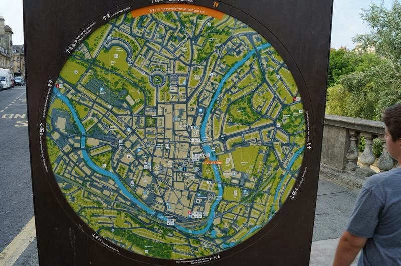 mapa de Bath, mapas callejeros, mapas de ciudades, carteles de mapas