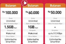 Cara Daftar Paket Unlimited Smartfren 50, 60, 100 Ribu Terbaru
