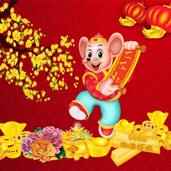 Vector con chuột vàng