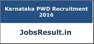 Karnataka PWD Recruitment 2016