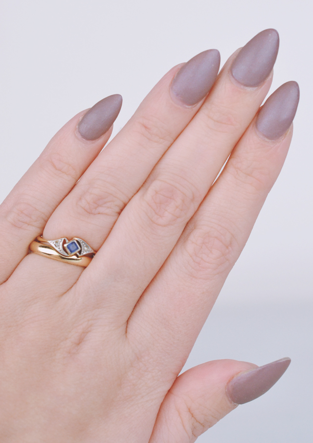 Essie Comfy in Cashmere OPI Matte Top Coat Swatch