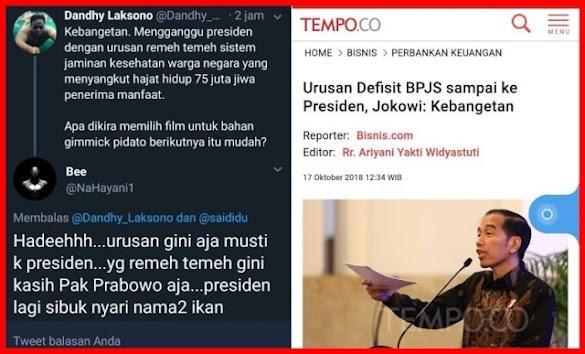Jokowi Sebut Kebangetan Urusan Defisit BPJS sampai ke Presiden, Ini Tanggapan Warganet