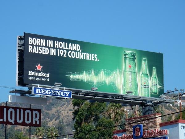 Heineken Born Holland Raised 192 countries billboard