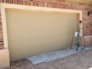 paint garage door to look like wood