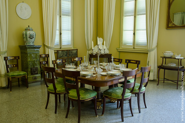 Interior Villa Carlota visita Lago di Como Italia