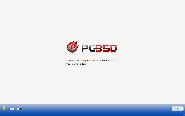 Initial configuration completed message in PC-BSD