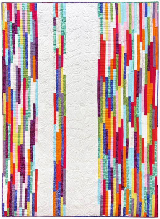 Spring Quilt Free Pattern designed by Valori Wells of Robert Kaufman Fabrics, Featuring Blueprint Basics.