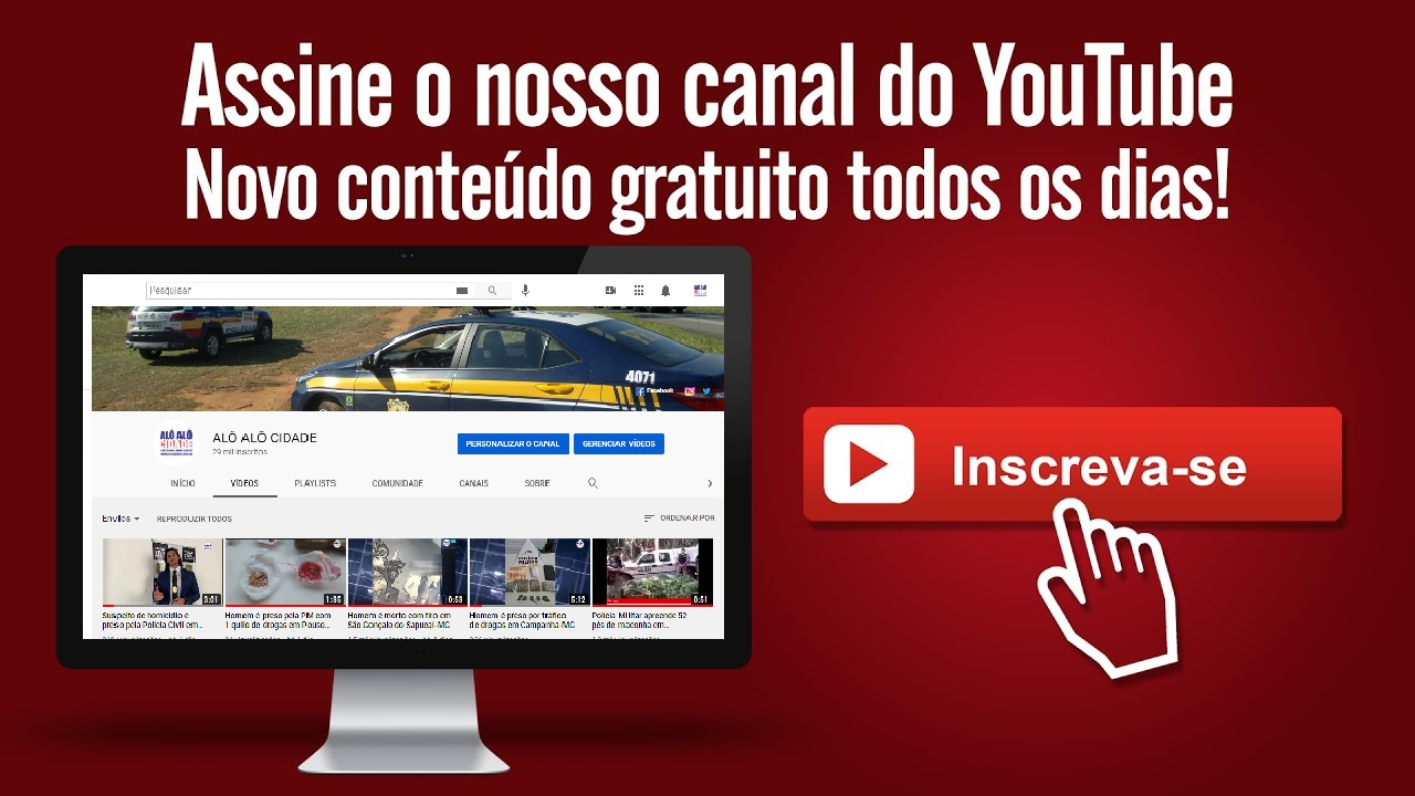 ASSINE O CANAL NO YOUTUBE