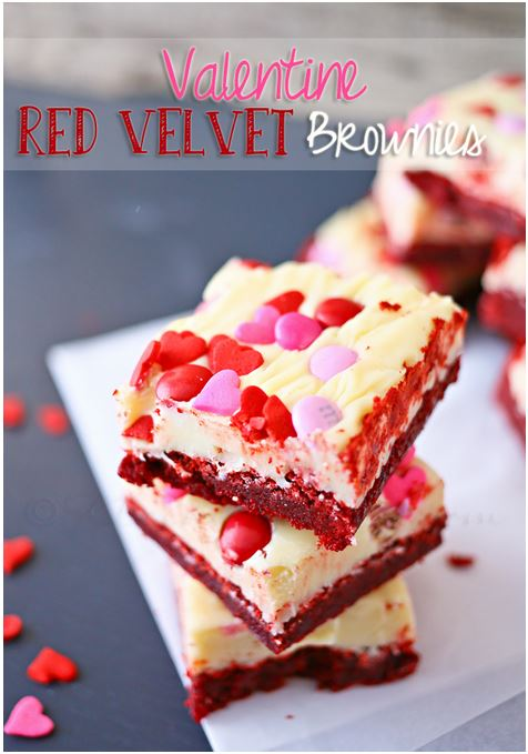 Red Velvet Brownies #valentinesday