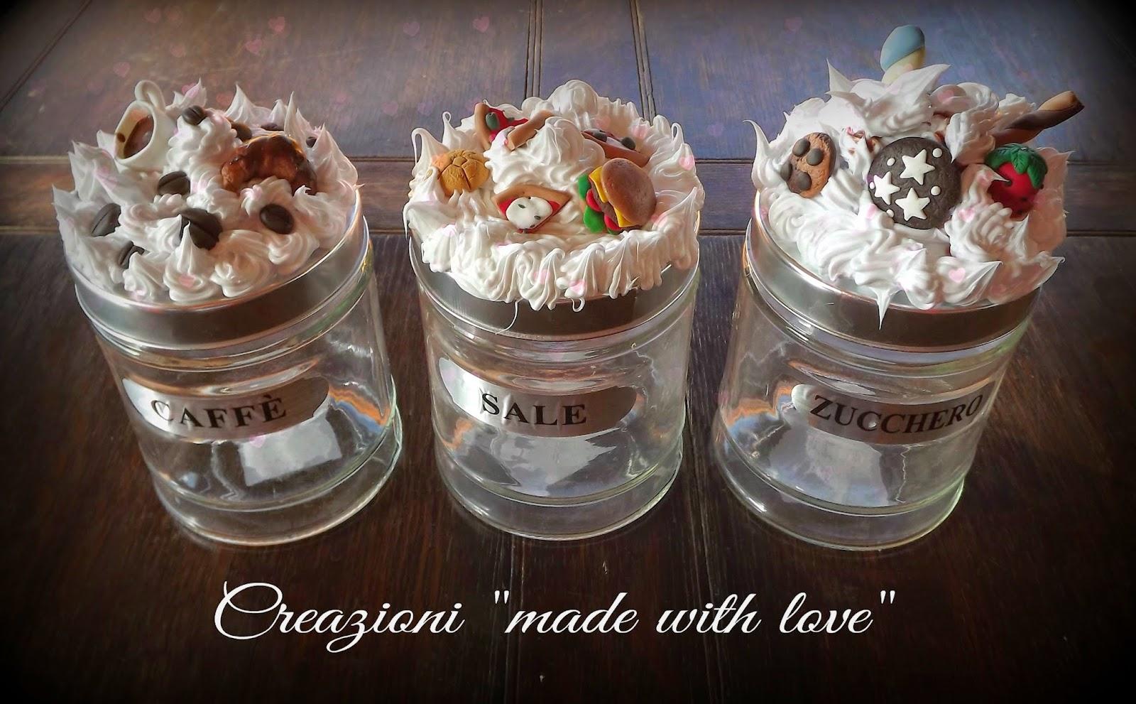 Creazioni made with love - Barattoli vetro decorati ...