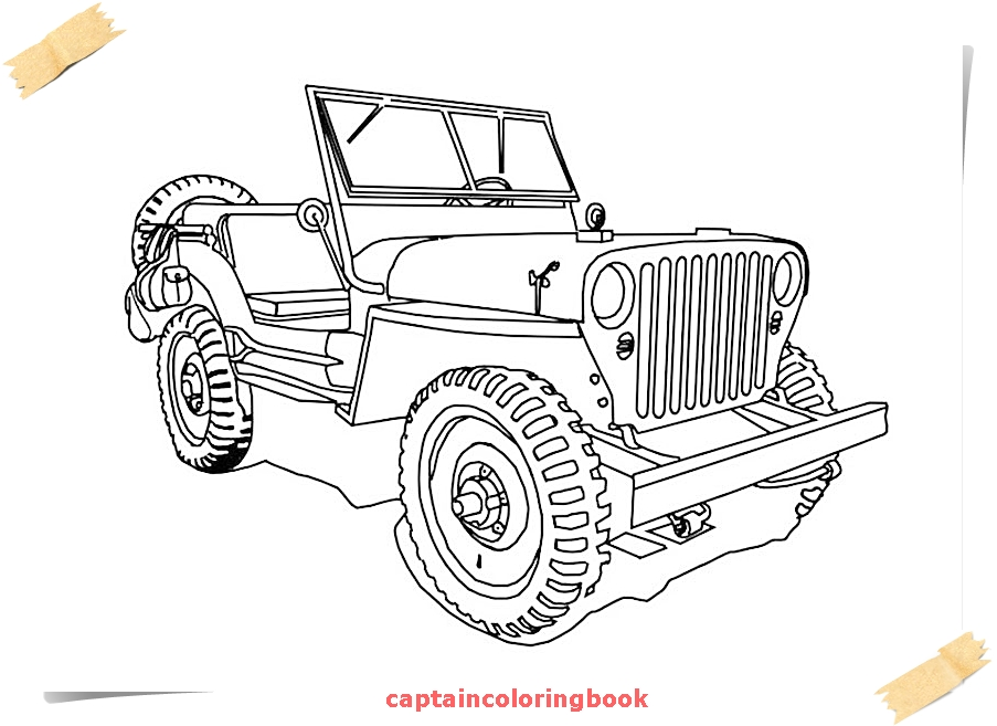 jeep coloring pages free ebook - Coloring Page Jeep