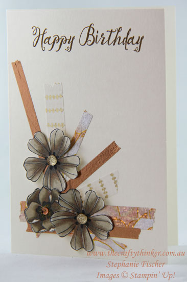 #thecraftythinker, #washitape, #stampinblends, #cardmaking, #stampinup, Stampin' Blends, Washi Tape, Flower Shop, Stampin' Up Australia Demonstrator, Stephanie Fischer, Sydney NSW
