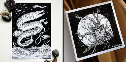 00-Weronika-Kolinska-Black-and-White-Animal-Ink-Drawings-www-designstack-co