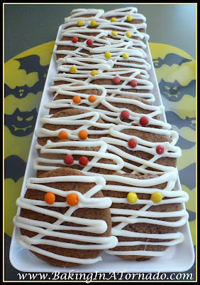 Mocha Mummy Cookies | www.BakingInATornado.com | #recipe #cookies #Halloween