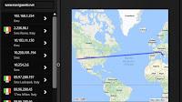 Tracciare dove si trova un sito web, tempo e percorso per raggiungerlo