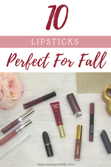 10 Perfect Lipsticks for Fall | beautywithlily.com
