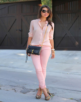 outfit rosa para el trabajo tumblr de moda casual