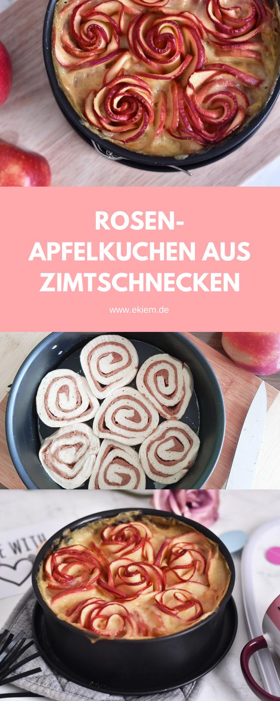ROSEN-APFELKUCHEN AUS ZIMTSCHNECKEN