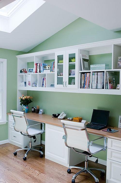 Home Office Dual Desk Setup: In Your Back Pocket...: Double Desks