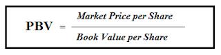 Rumus Price to Book Value (PBV)