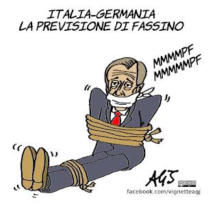 fassino, euro 2016, italia - germania, pronostici, satira, vignetta