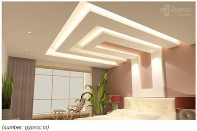 desain plafon minimalis modern