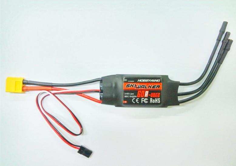 2-6s SkyWalker UBEC 60A ESC DIY Drone Brushless DC Motor Controller