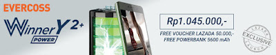 Promo Evercoss Y2 Plus Power Android Murah 5 inch Rp 1 Jutaan