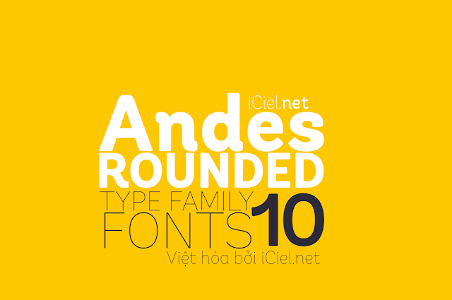 [Sans-serif] Andes Rounded Việt hóa
