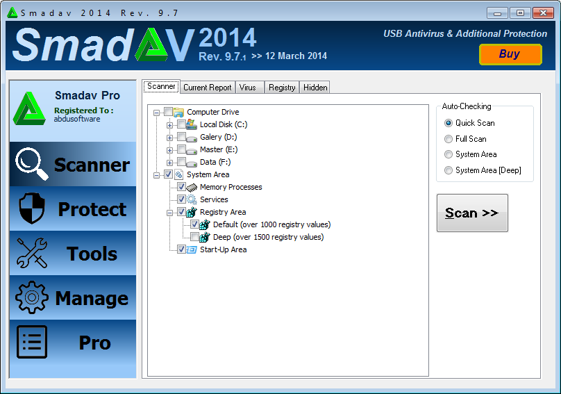 SmadAV Pro 2014 Rev. 9.7.1 Full Serial Key Free