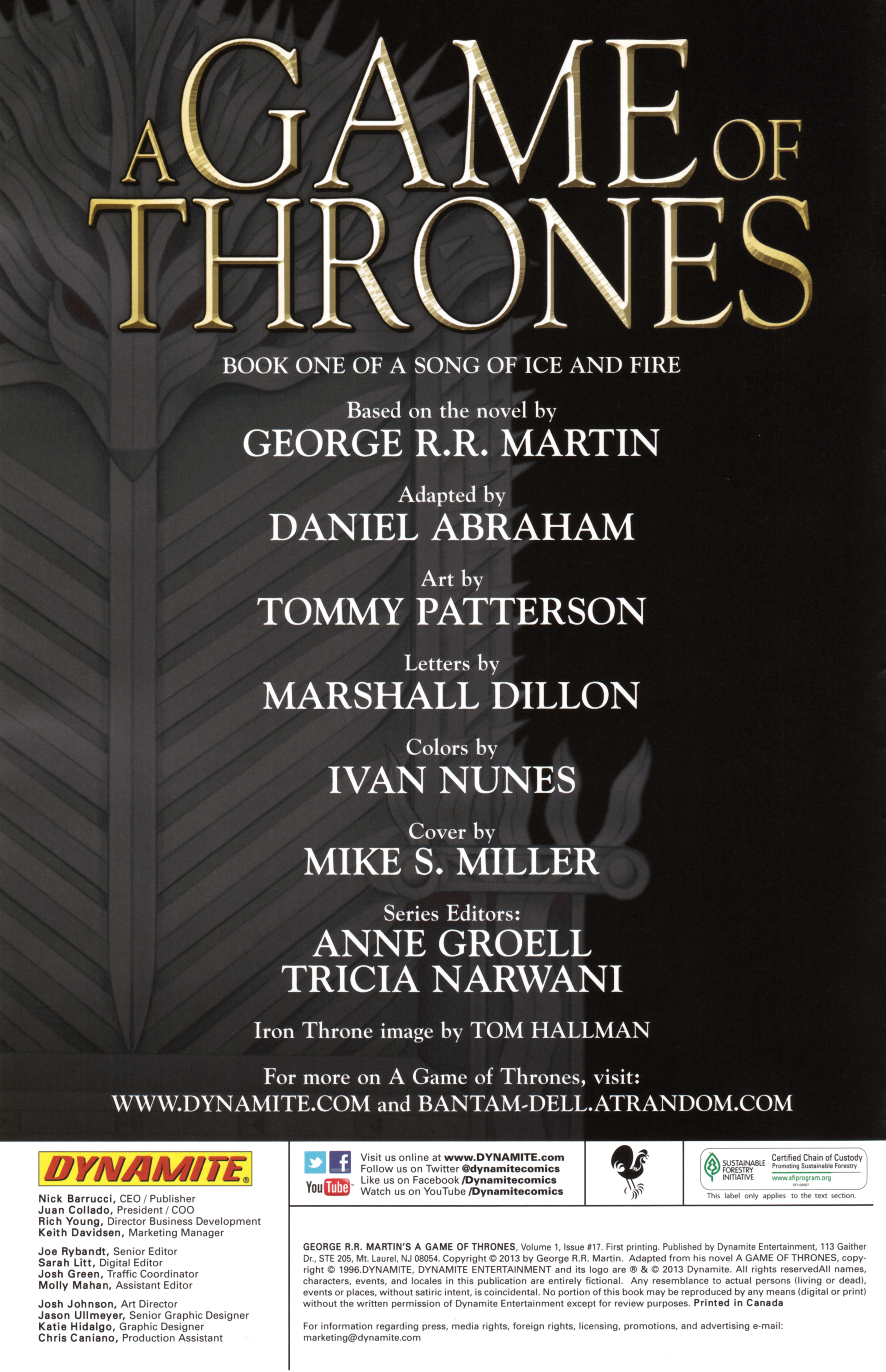 Read online A Game Of Thrones comic -  Issue #17 - 2