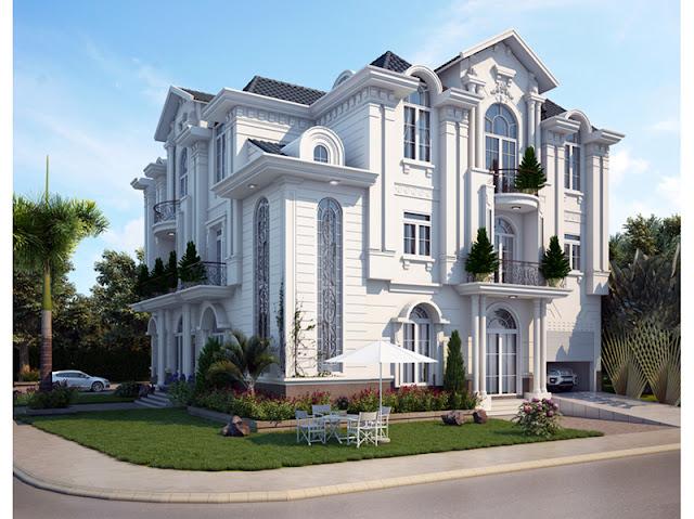 gach bong-BT1310715 Thiết kế biệt thự cổ điển - Phong cách và xu hướng hiện nay