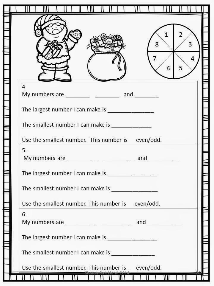 Christmas writing activity 2nd grade