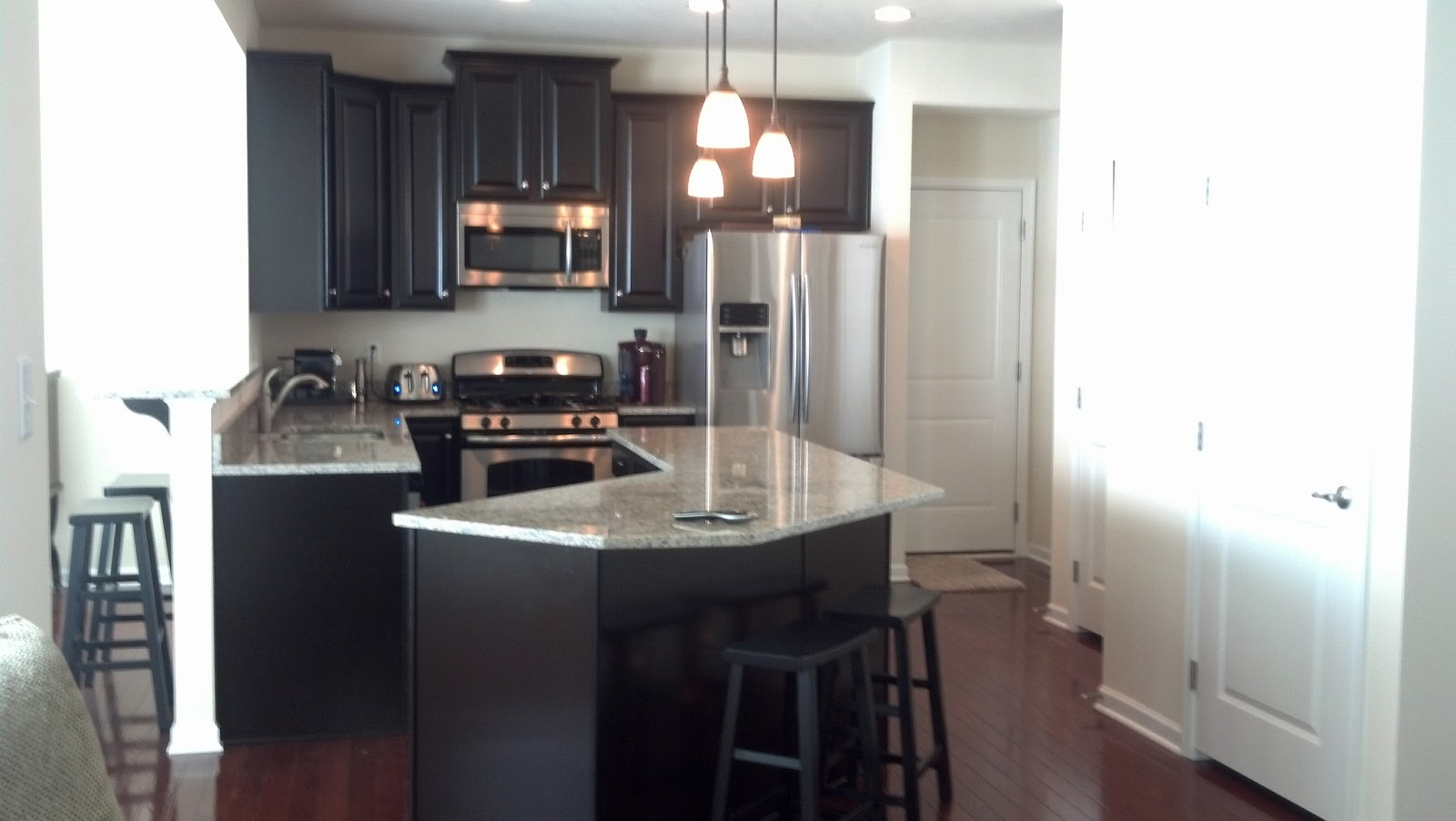 Kitchen Island Overhang For Stools Savoy Ryan Home : Kitchen Pics Espresso Cab & St. Cecilia