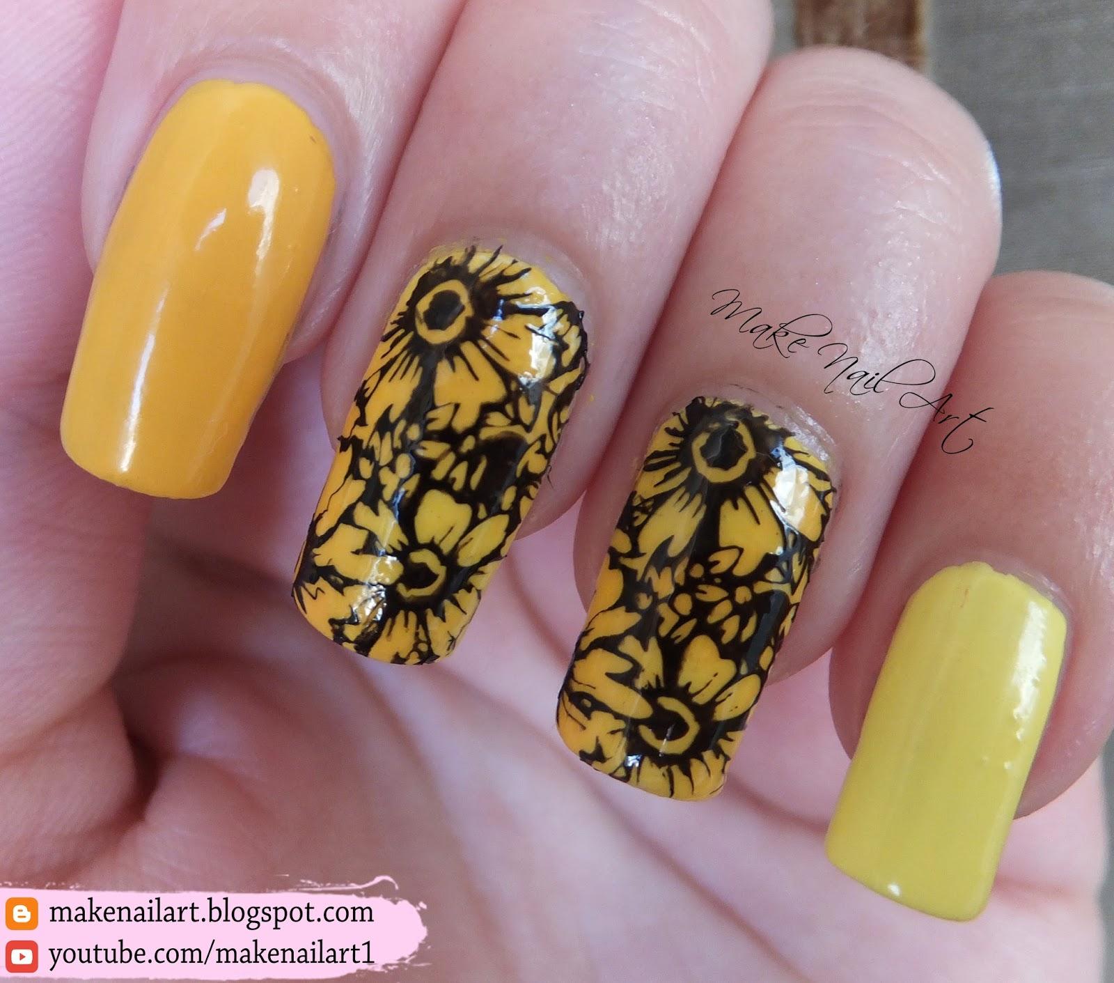 Make Nail Art Summer Stamping Flowers Nail Art Design Tutorial