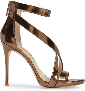 Golden evening sandals