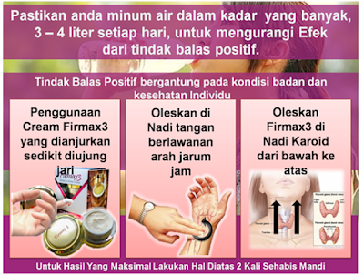 Firmax3 Firming & Lifting Cream, cara menggunakan firmax3, cara pemakaian firmax3