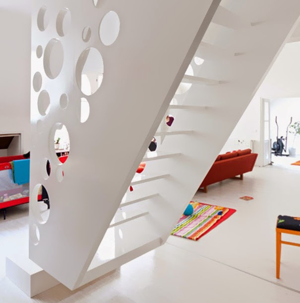 Staircase Ideas Creative Ways To Add Style: Creative Staircase Design In Emmental Cheese Style