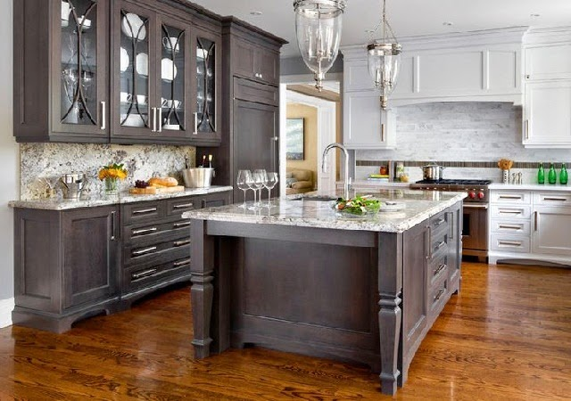 Kitchen Glass Cabinets - AyanaHouse