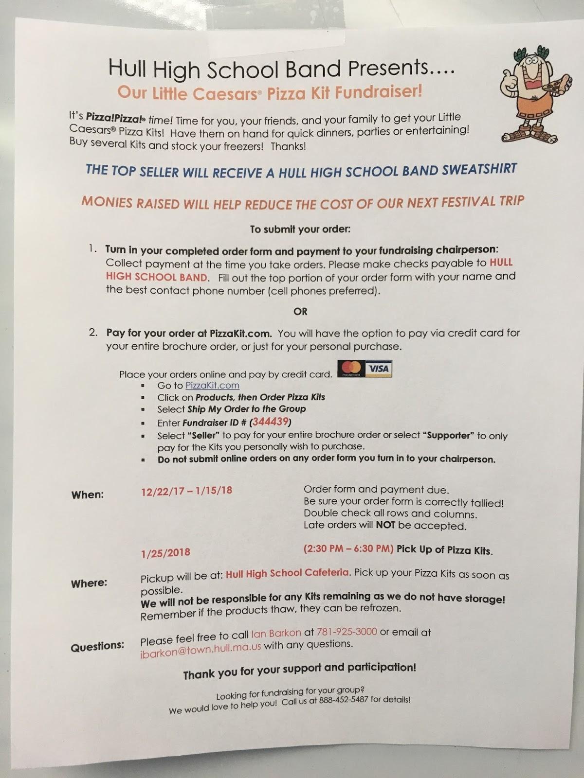 The Hull High School Blog: HULL HIGH SCHOOL BAND PRESENTS - PIZZA!!!!!!!