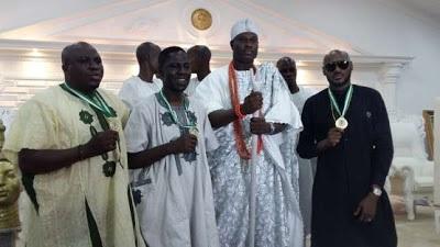 Ooni of Ife unveils 2Face, Gbenga Adeyinka and Cally Ikpe as peace amabassadors