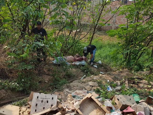 Moradores descobrem corpo de homem em córrego na zona Leste