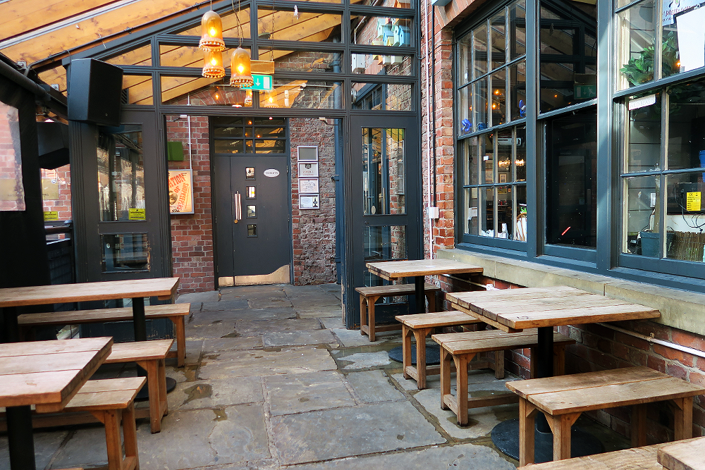 Outdoors patio at Nation of Shopkeepers
