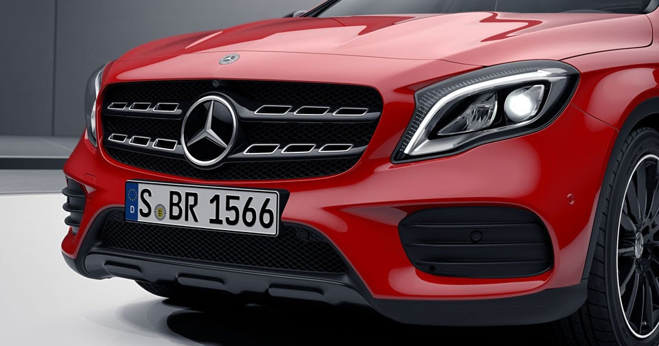 Facelifted Mercedes-Benz GLA Looks The Business With Optional Night Package