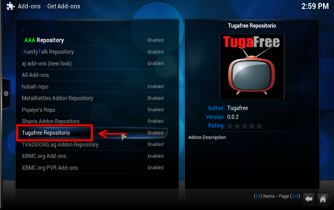 how to get all sports hannels on kodi
