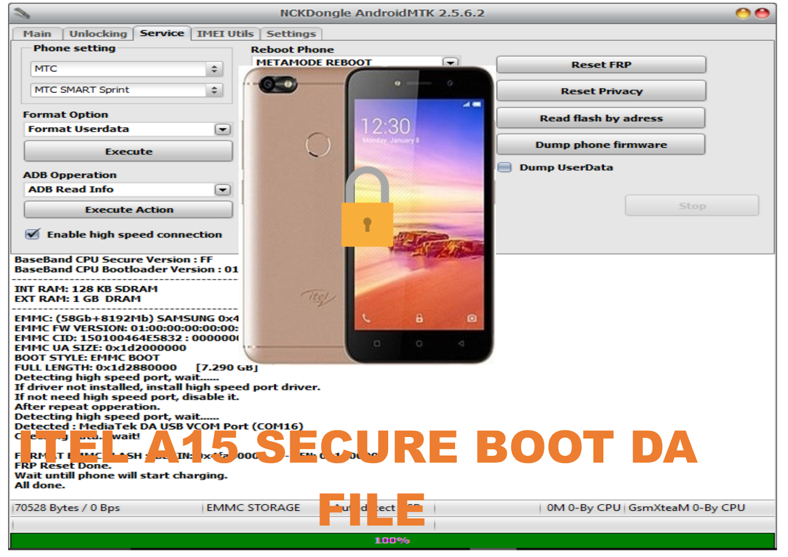 ITEL A15 FRP RESET WITH SECURE BOOT DA FILE | MOBIPROX BLOGSPOT