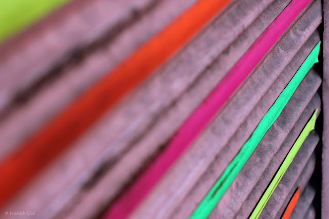 A Minimalist Photograph of Colorful Diagonal Lines Shot via Canon 600D and 100mm Prime Canon Macro Lens