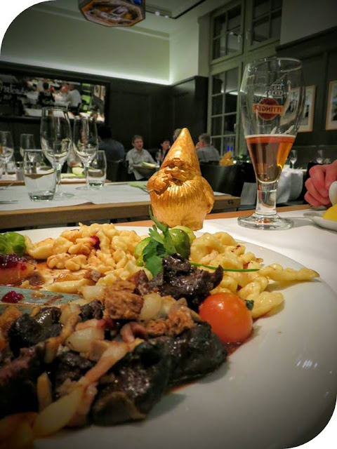 Ringing in the New Year Swiss Style in Basel: Beef, spaetzle, and a golden gnome