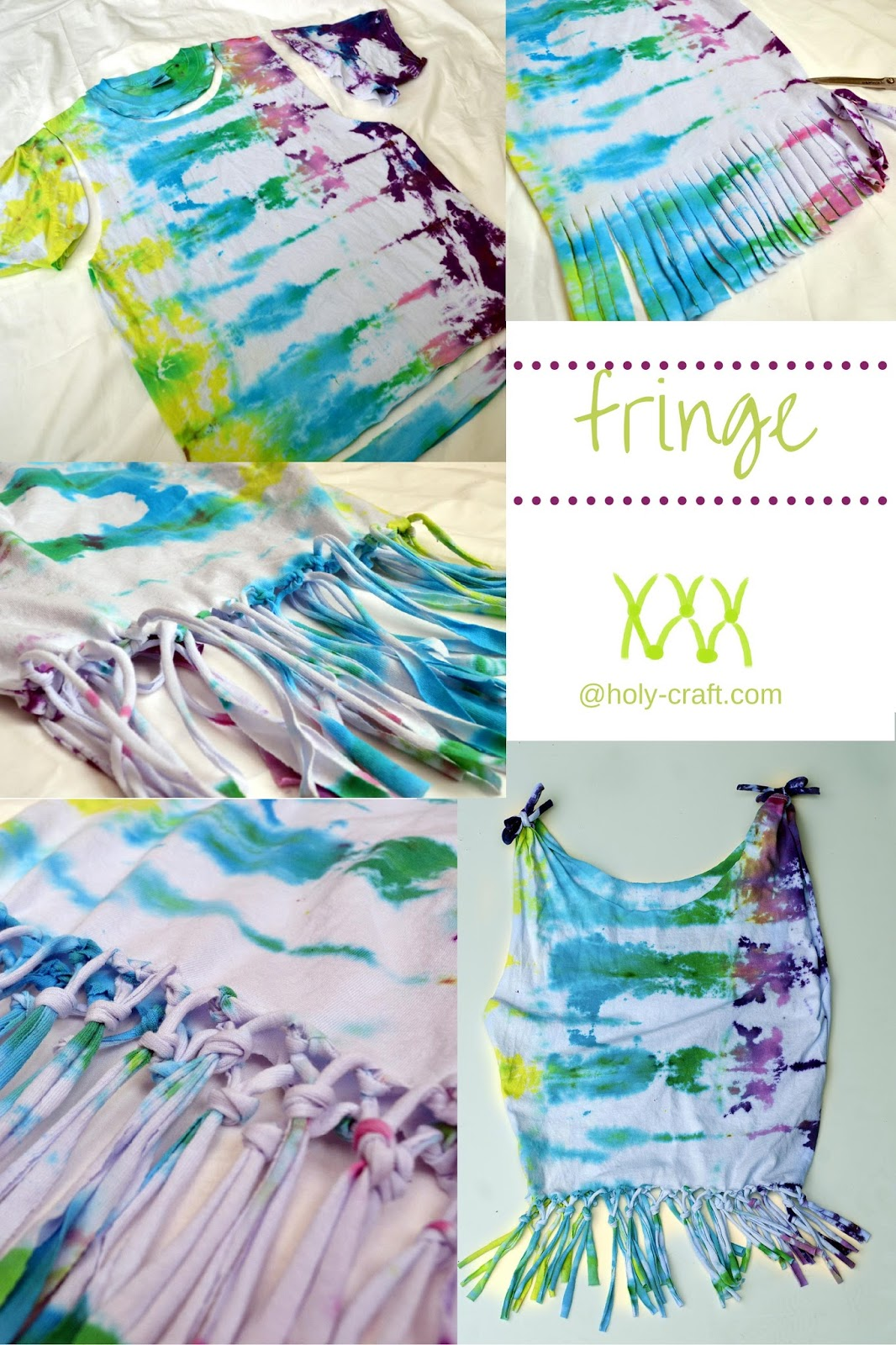 30af241ad1d9 Tie Dye party with 6 different tie dye shirt restyle creations ...
