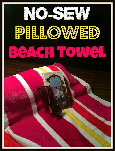 No Sew Pillowed Beach Towl
